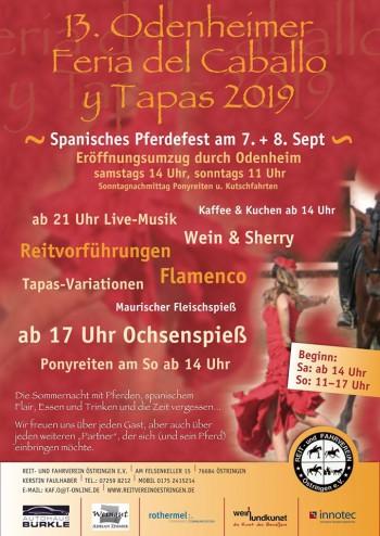 07./08.09.2019  Feria de Caballo y Tapas